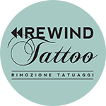 rewind tattoo logo